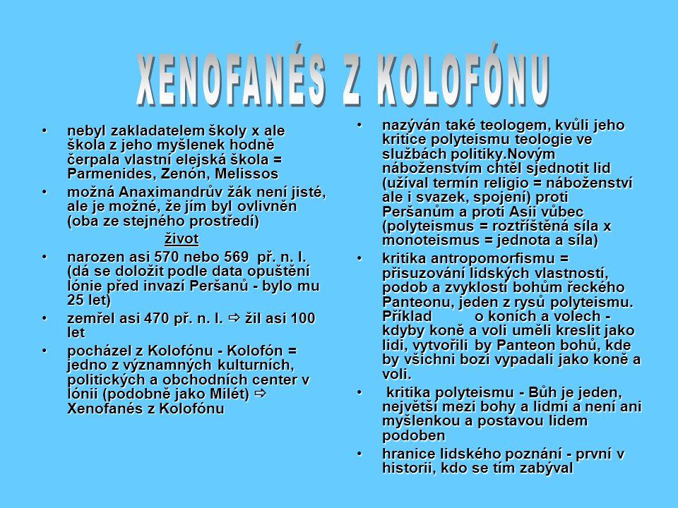XENOFANÉS Z KOLOFÓNU