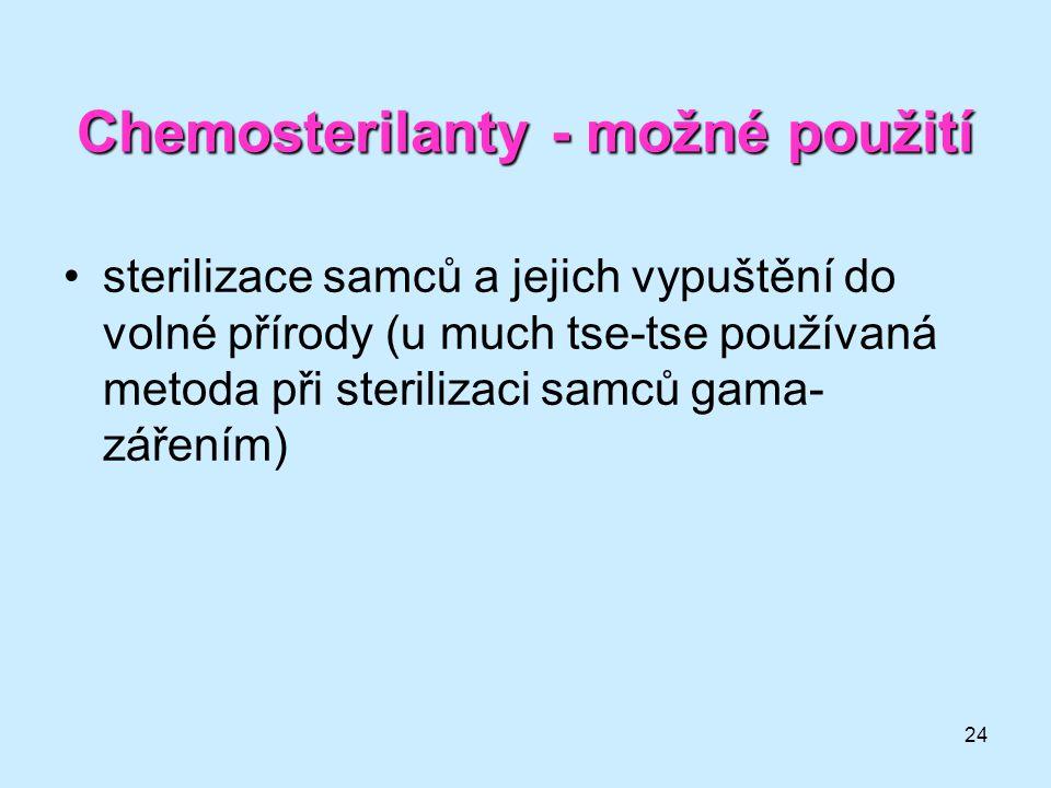 Chemosterilanty - možné použití