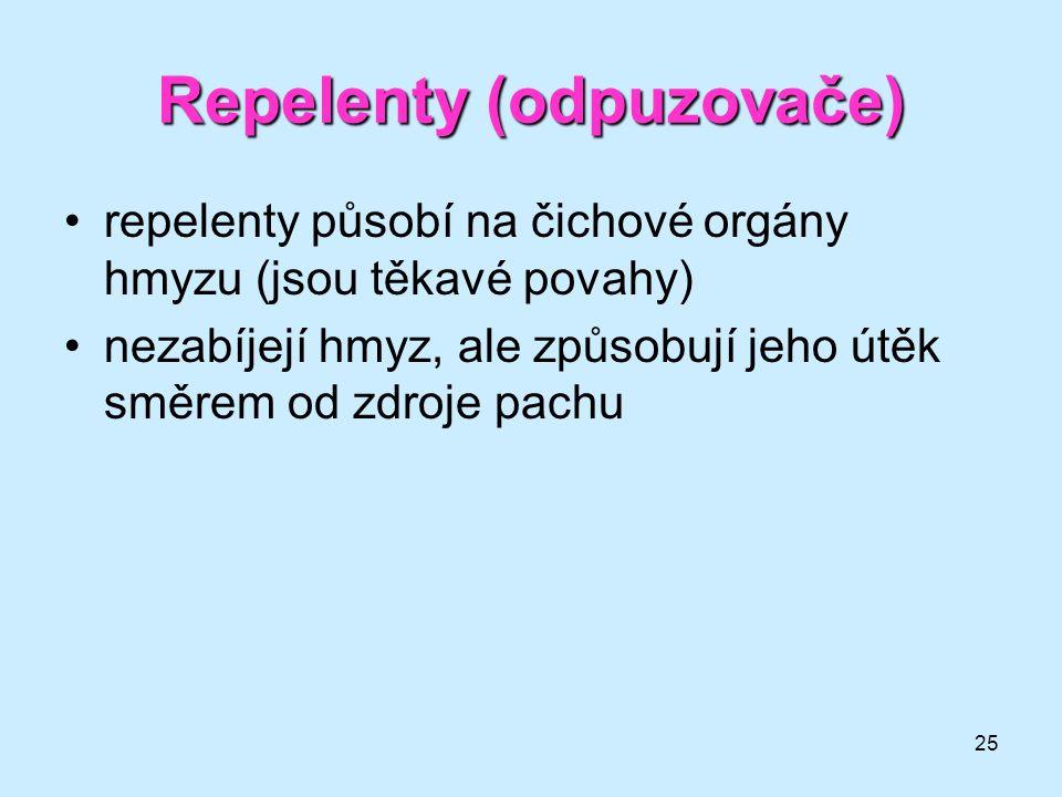 Repelenty (odpuzovače)