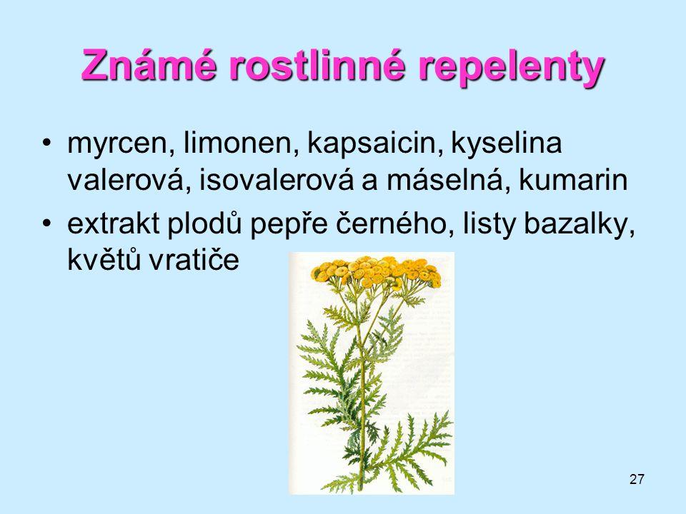 Známé rostlinné repelenty