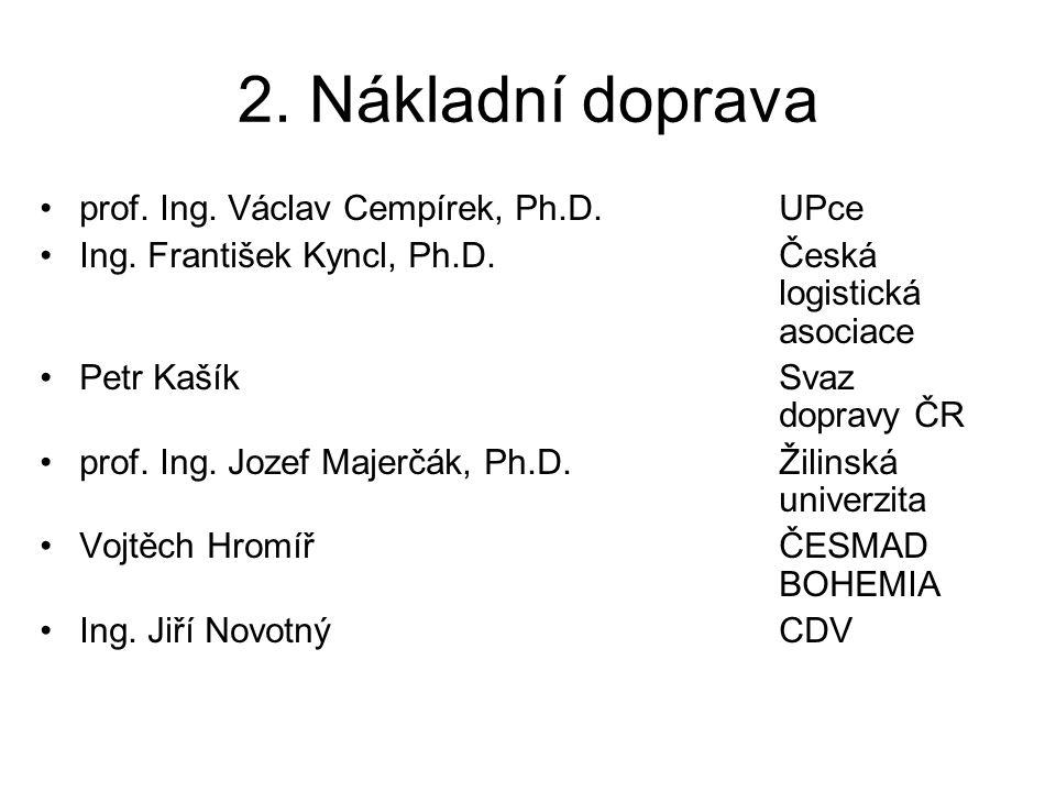2. Nákladní doprava prof. Ing. Václav Cempírek, Ph.D. UPce