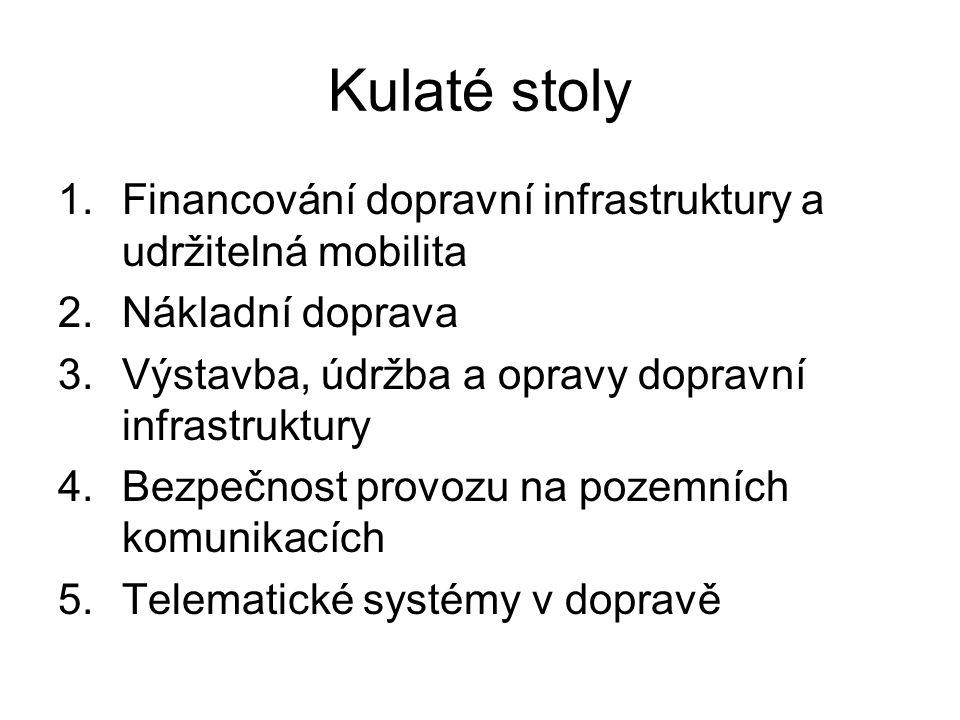 Kulaté stoly Financování dopravní infrastruktury a udržitelná mobilita