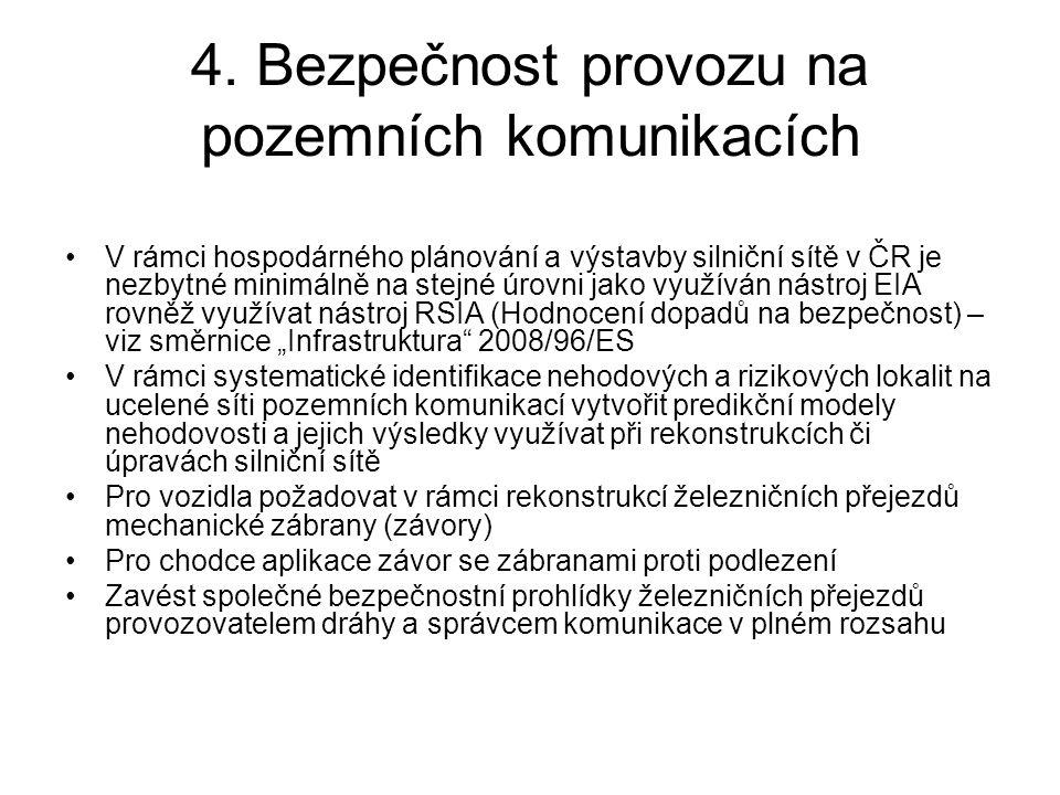 4. Bezpečnost provozu na pozemních komunikacích