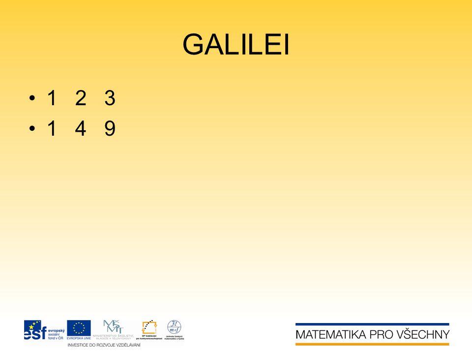 GALILEI 1 2 3 1 4 9