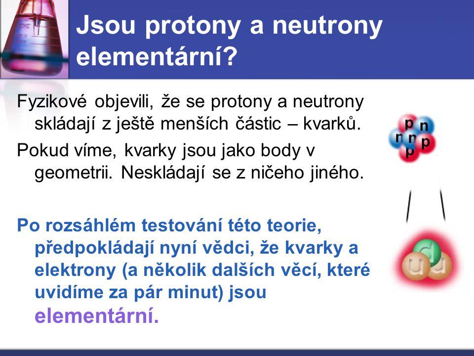 Jsou protony a neutrony elementární