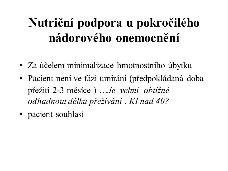 Nutriční podpora u pokročilého nádorového onemocnění