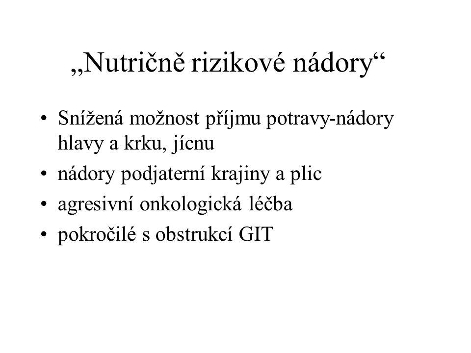 """""""Nutričně rizikové nádory"""