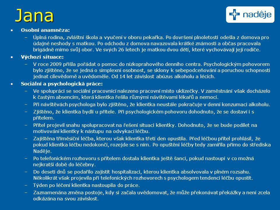 Jana Osobní anamnéza: