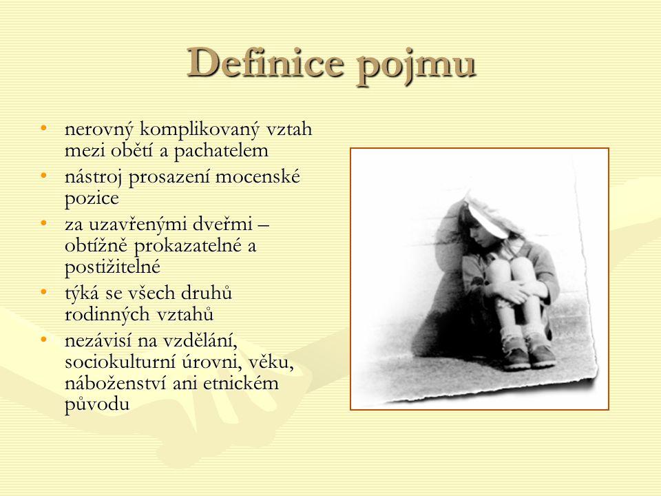 Definice pojmu nerovný komplikovaný vztah mezi obětí a pachatelem