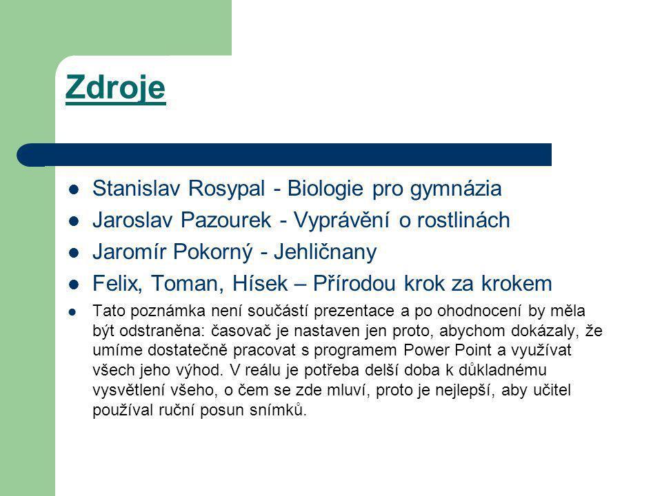 Zdroje Stanislav Rosypal - Biologie pro gymnázia