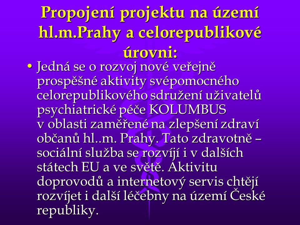 Propojení projektu na území hl.m.Prahy a celorepublikové úrovni: