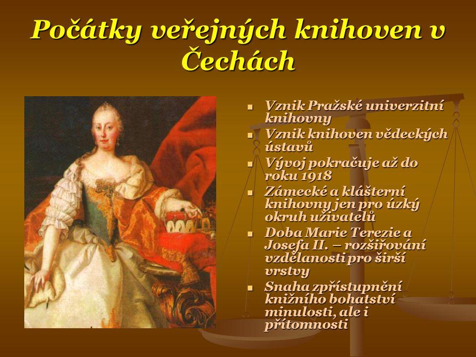 Počátky veřejných knihoven v Čechách