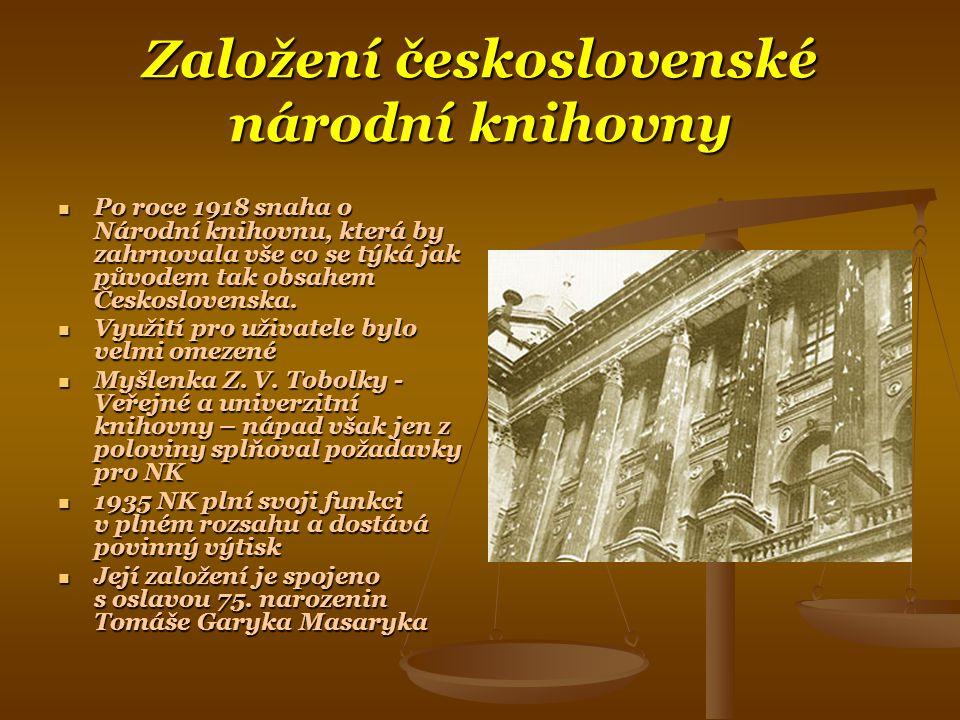 Založení československé národní knihovny