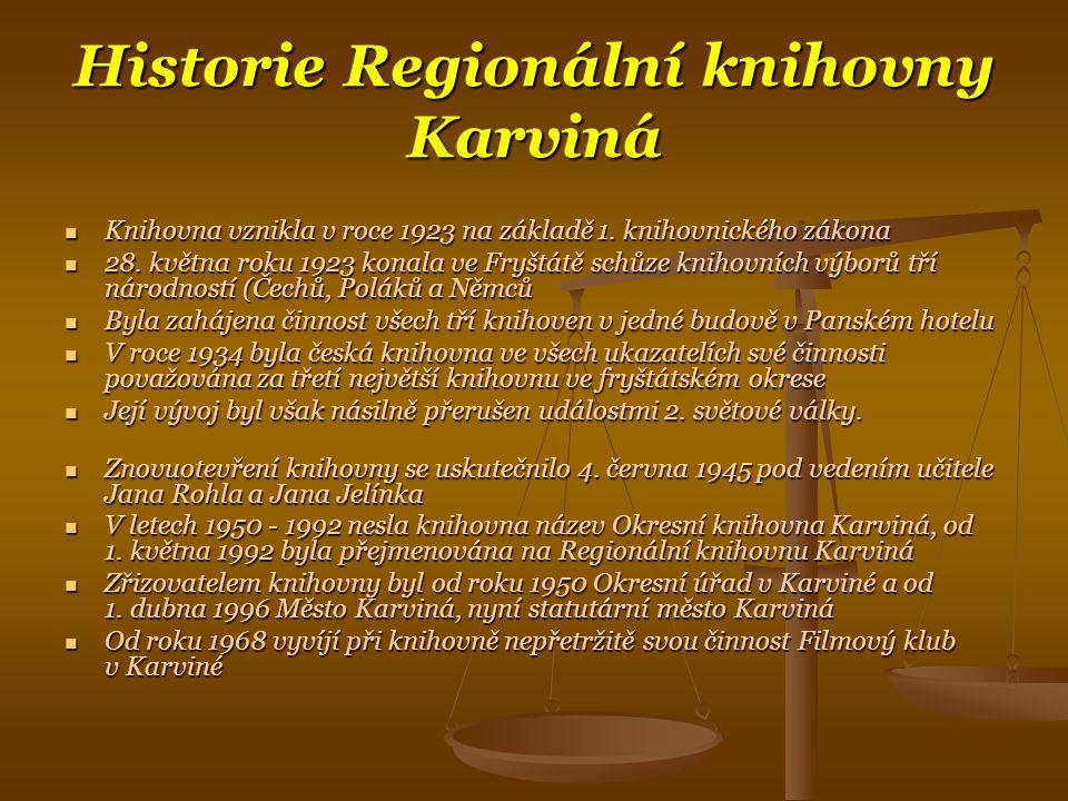 Historie Regionální knihovny Karviná