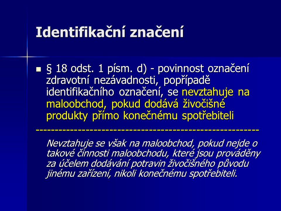 Identifikační značení