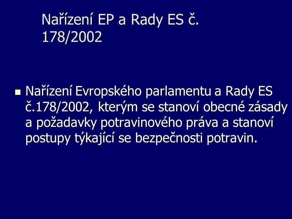 Nařízení EP a Rady ES č. 178/2002