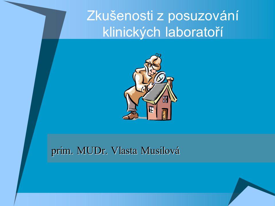 Zkušenosti z posuzování klinických laboratoří