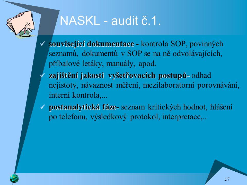 NASKL - audit č.1.