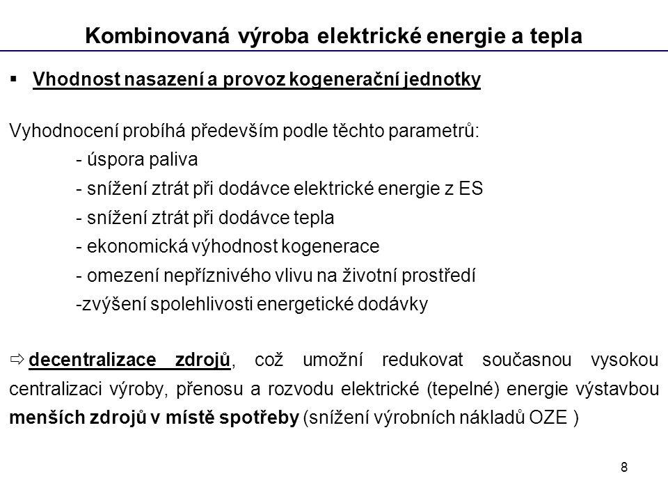 Kombinovaná výroba elektrické energie a tepla