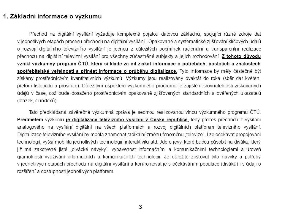 1. Základní informace o výzkumu
