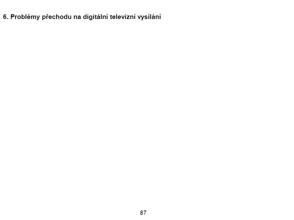 6. Problémy přechodu na digitální televizní vysílání