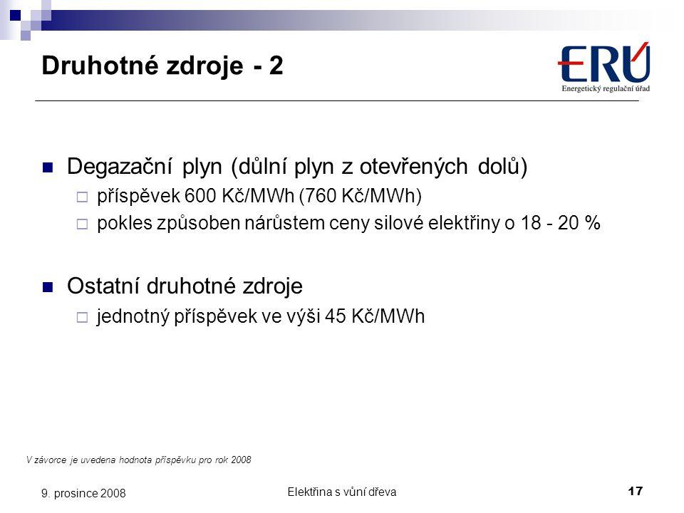 Druhotné zdroje - 2 Degazační plyn (důlní plyn z otevřených dolů)