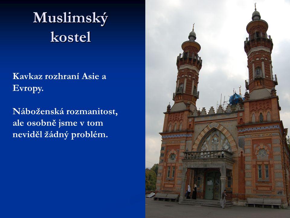 Muslimský kostel Kavkaz rozhraní Asie a Evropy.