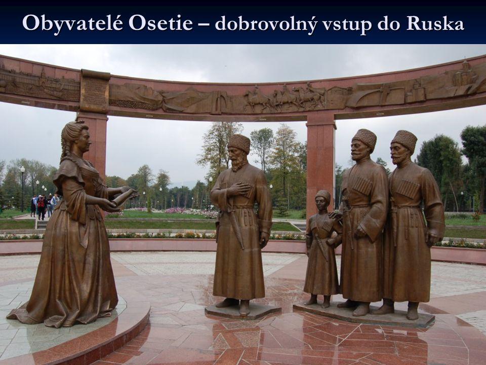 Obyvatelé Osetie – dobrovolný vstup do Ruska
