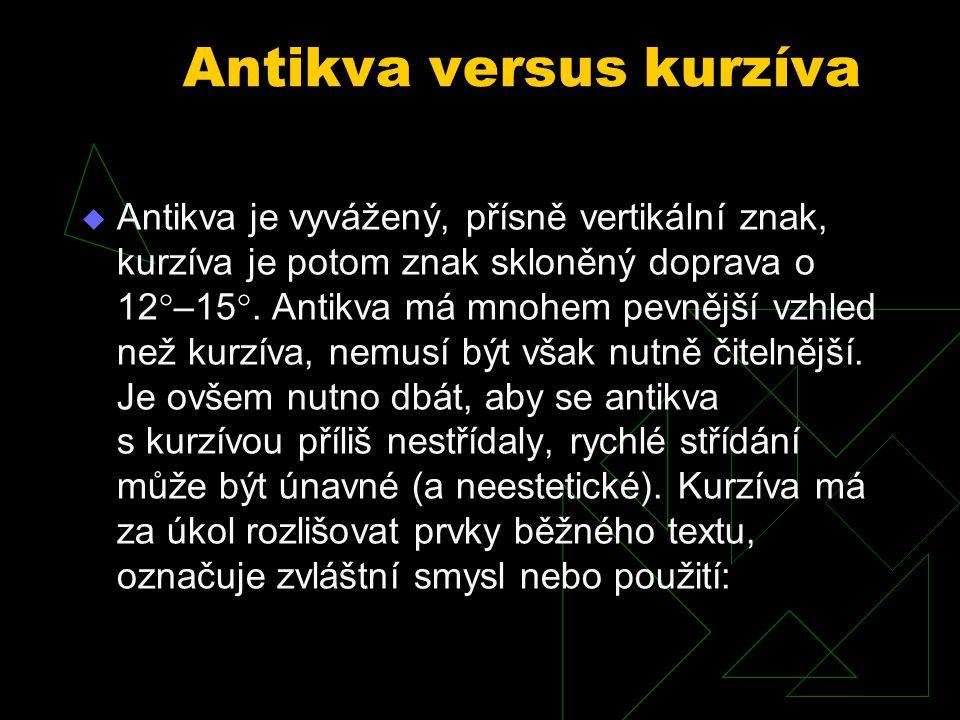 Antikva versus kurzíva