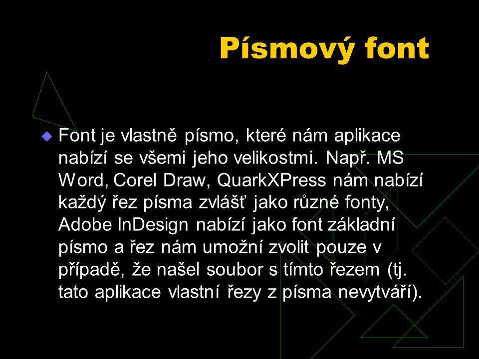 Písmový font