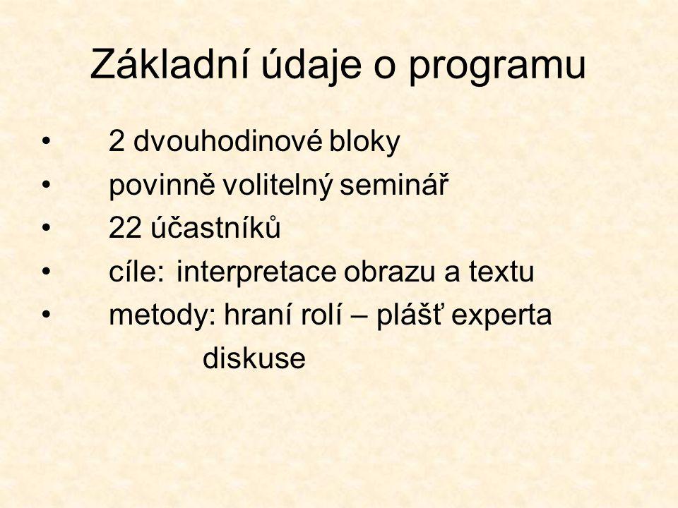 Základní údaje o programu