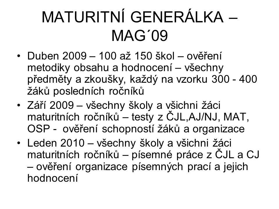 MATURITNÍ GENERÁLKA – MAG´09