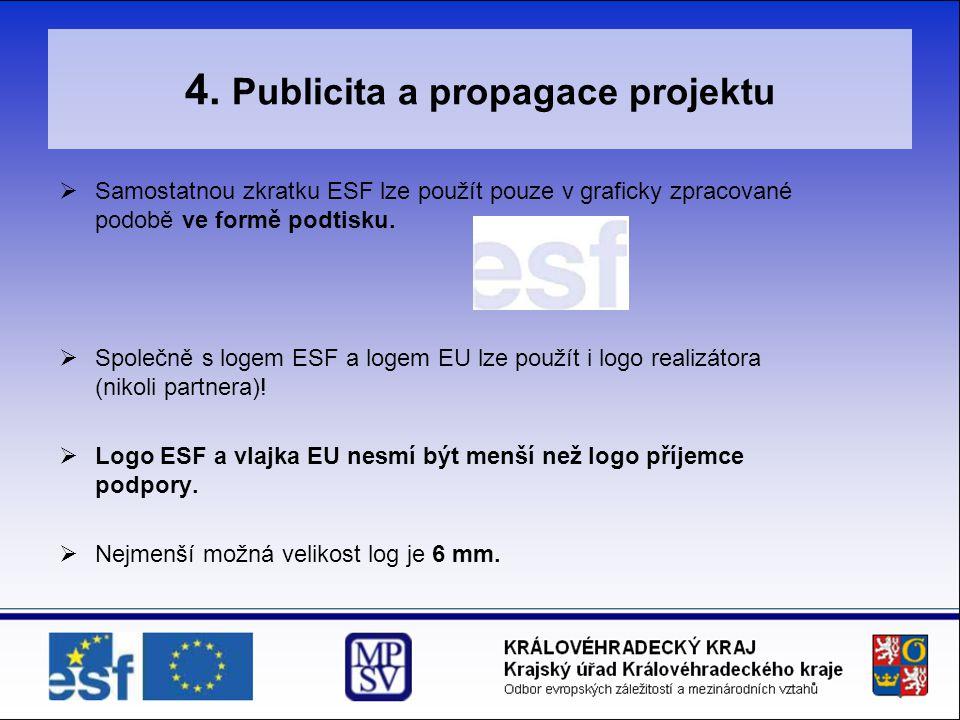 4. Publicita a propagace projektu