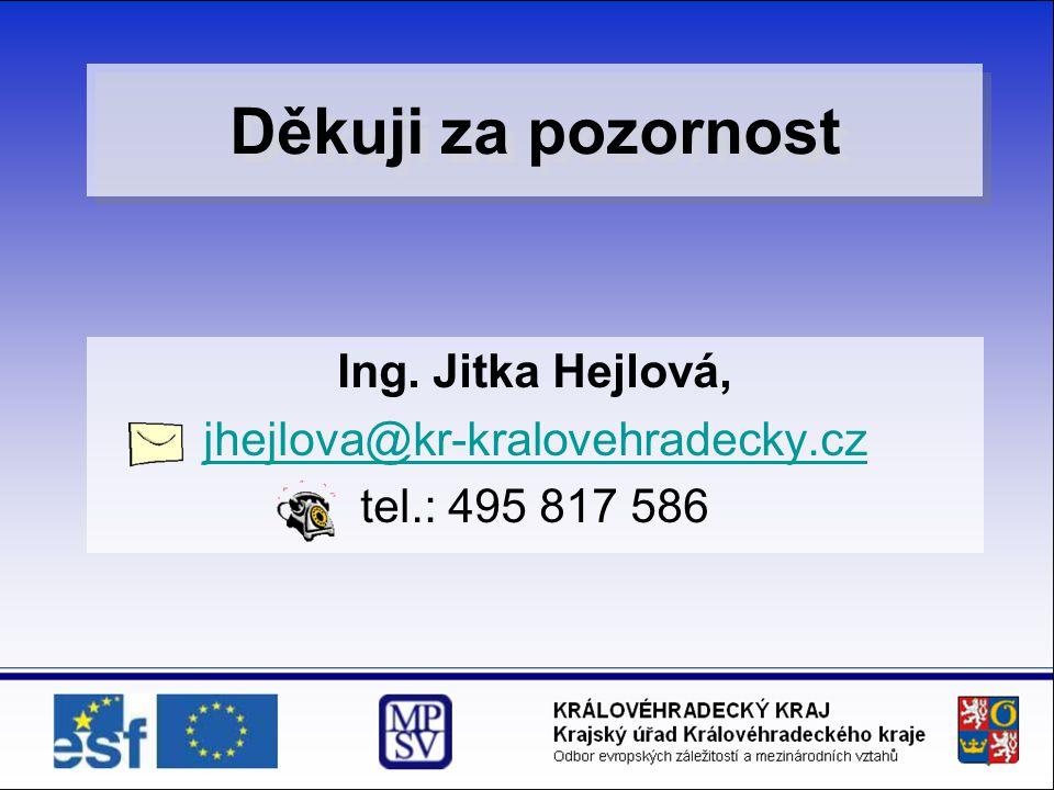 Ing. Jitka Hejlová, jhejlova@kr-kralovehradecky.cz tel.: 495 817 586