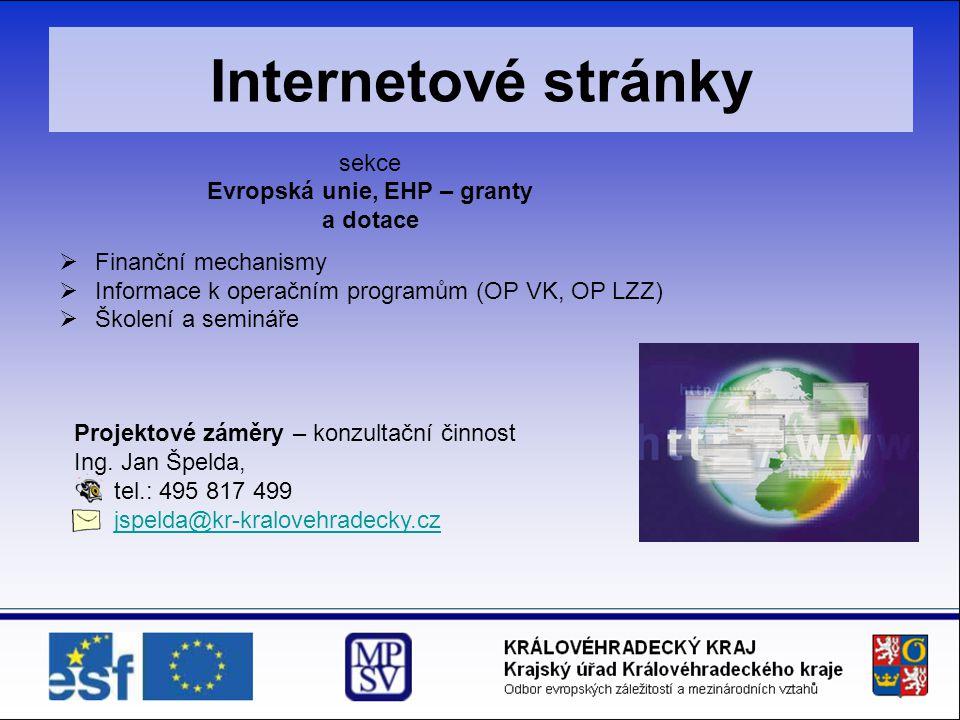 Evropská unie, EHP – granty