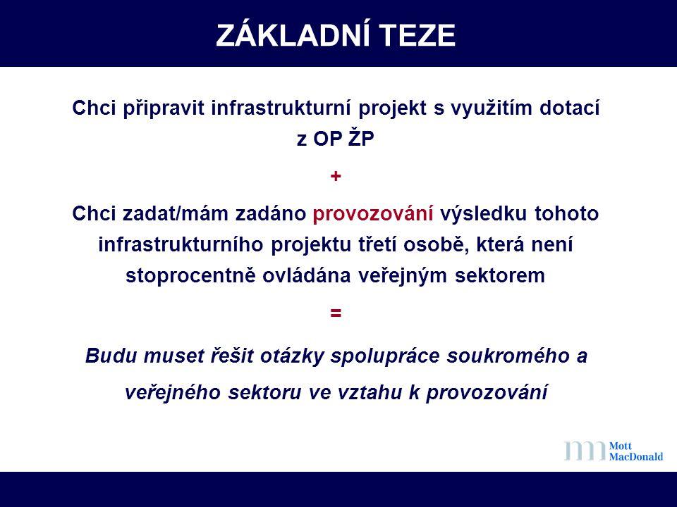 Chci připravit infrastrukturní projekt s využitím dotací z OP ŽP