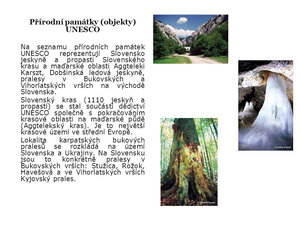 Přírodní památky (objekty) UNESCO