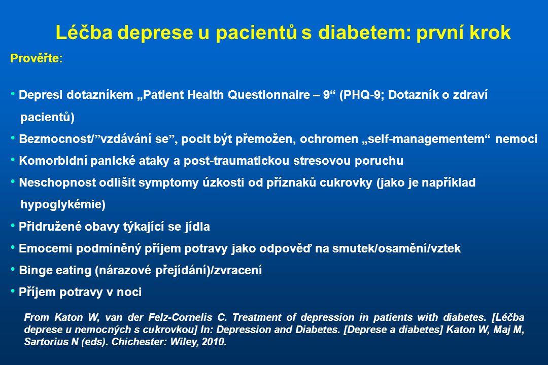 Léčba deprese u pacientů s diabetem: první krok
