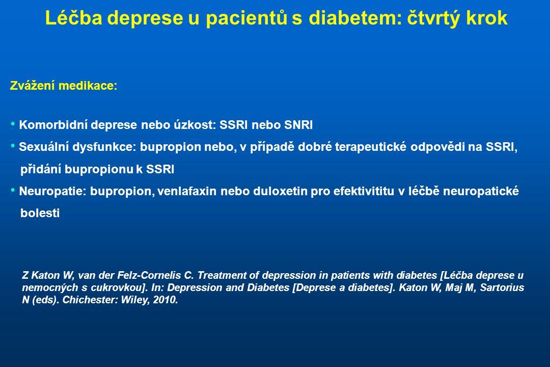 Léčba deprese u pacientů s diabetem: čtvrtý krok