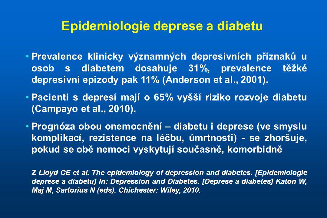Epidemiologie deprese a diabetu