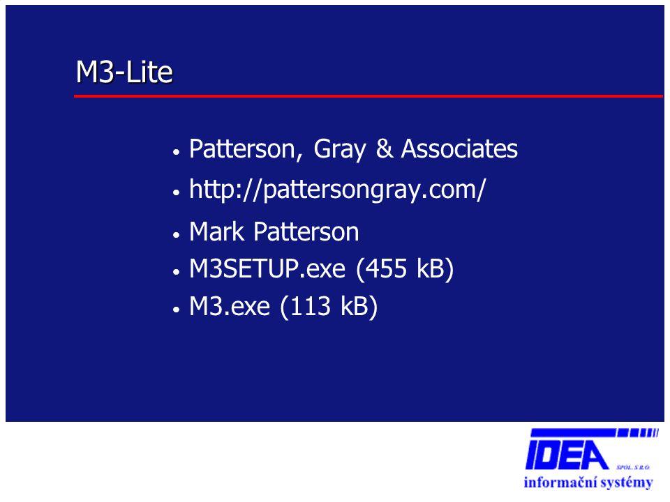 M3-Lite Patterson, Gray & Associates http://pattersongray.com/