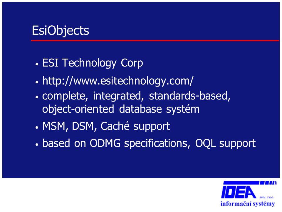 EsiObjects ESI Technology Corp http://www.esitechnology.com/