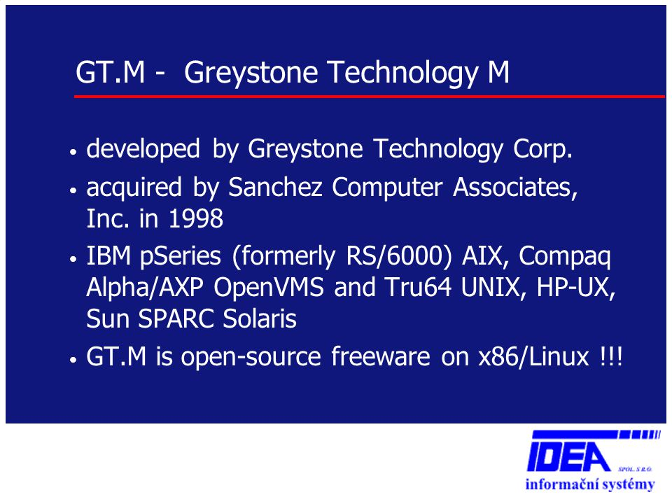 GT.M - Greystone Technology M