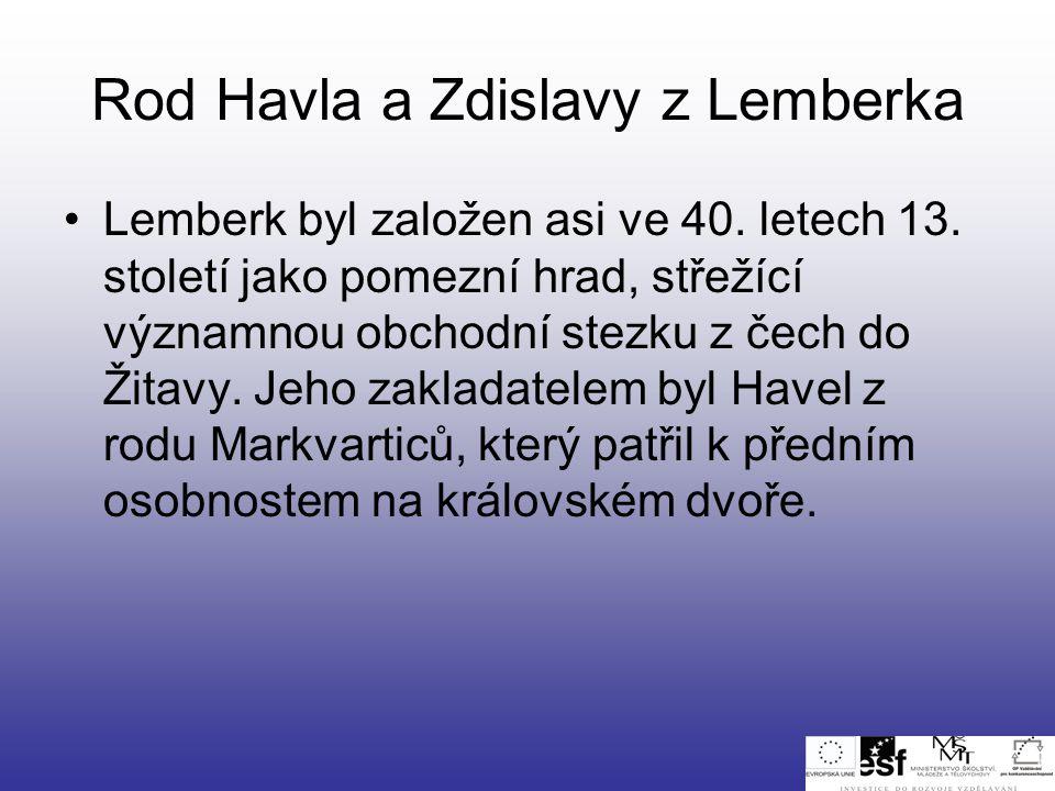 Rod Havla a Zdislavy z Lemberka