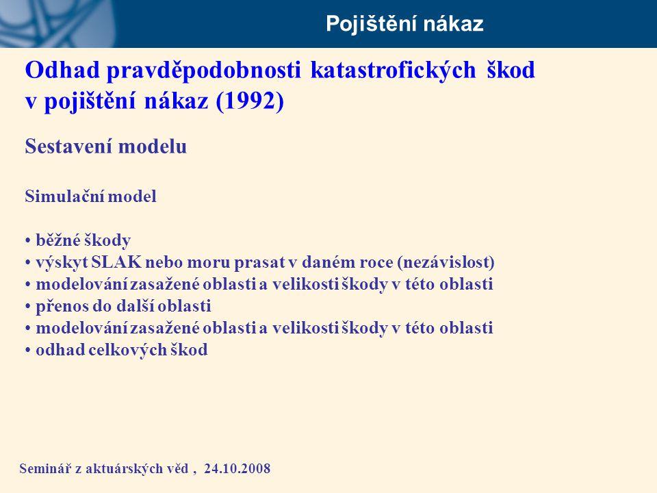 Odhad pravděpodobnosti katastrofických škod v pojištění nákaz (1992)