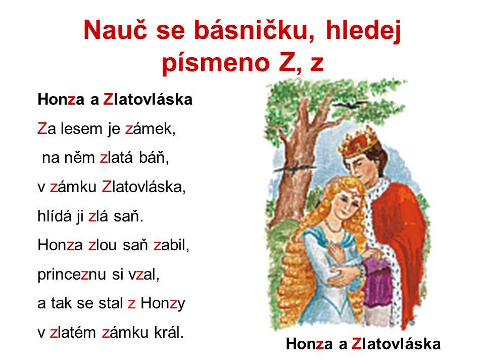 Nauč se básničku, hledej písmeno Z, z