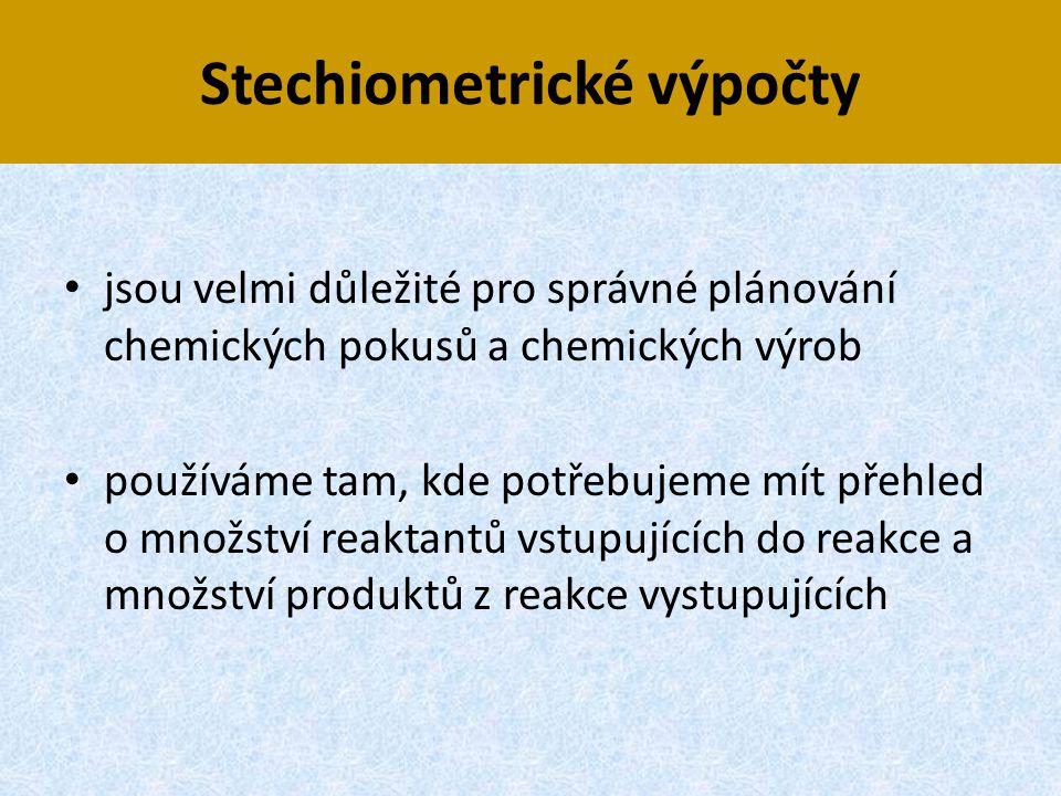 Stechiometrické výpočty