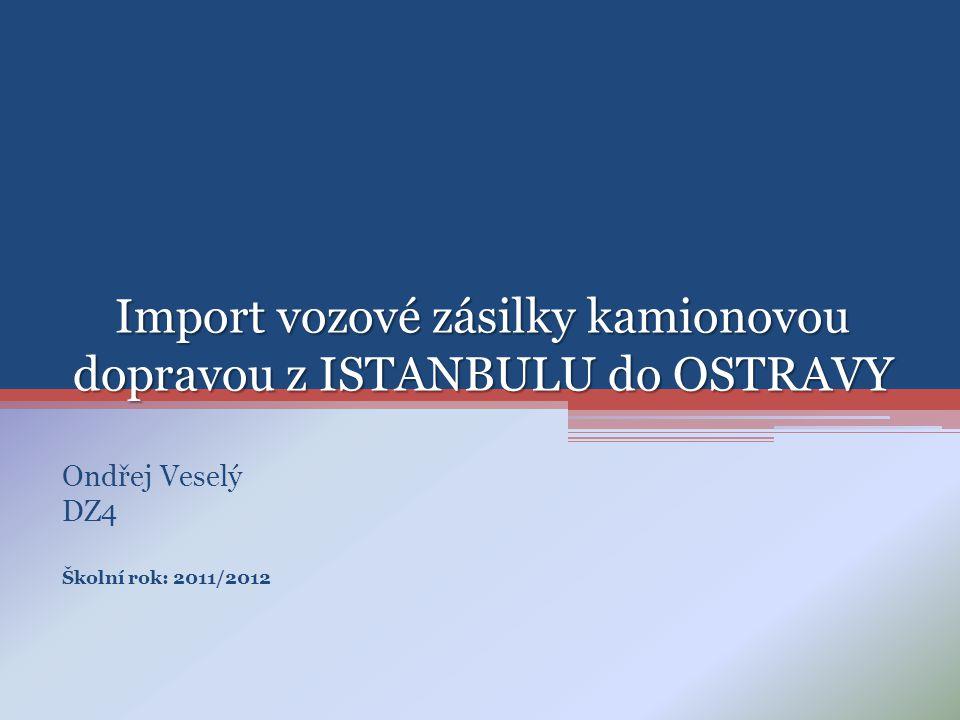 Import vozové zásilky kamionovou dopravou z ISTANBULU do OSTRAVY