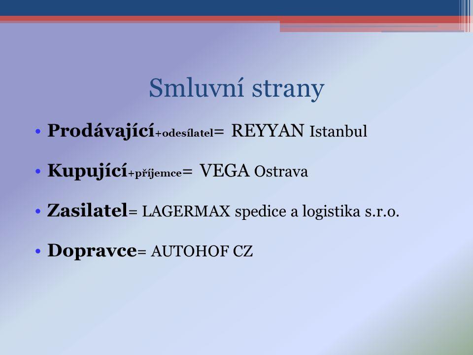 Smluvní strany Prodávající+odesílatel= REYYAN Istanbul