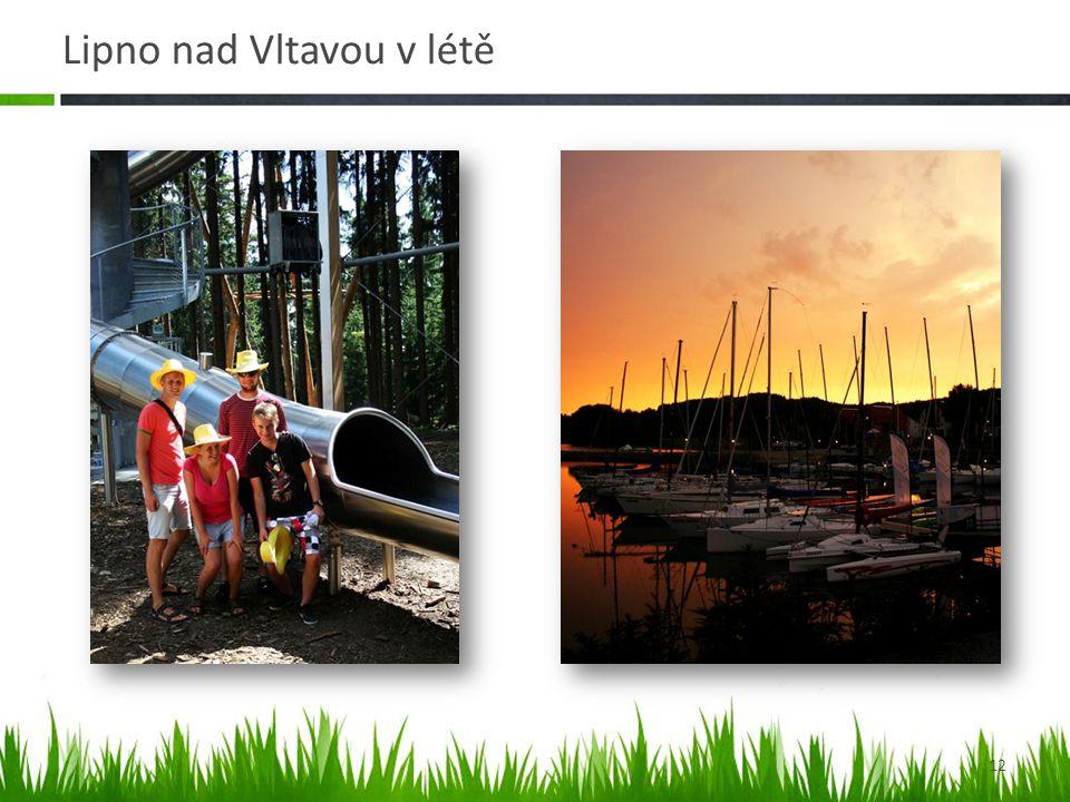 Lipno nad Vltavou v létě